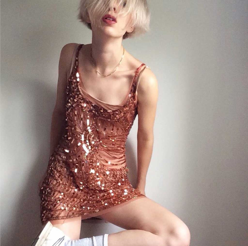 Prelovely | Eliza Likes Clothes in vintage sequin mini dress
