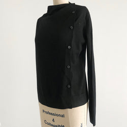 Prelovely | COS Black Asymmetric Knit Cardigan