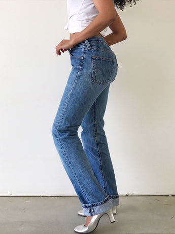 Prelovely - Vintage 90s Levi's 501 Straight Leg High Waist Jeans