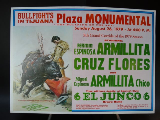 Mexican Bullfighting Poster Spanish Artist