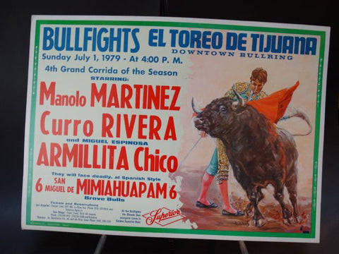 Bullfighting Poster Mexican Beer Ad