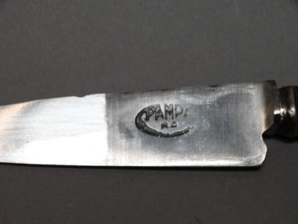 Argentine Gaucho Silver Boot Knife