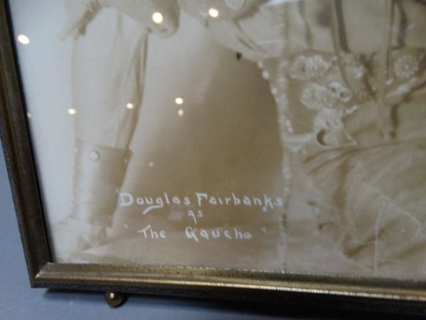 Framed studio portrait of Douglas Fairbanks as The Gaucho
