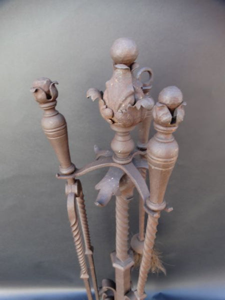 Spanish Revival Fireplace Tools Set