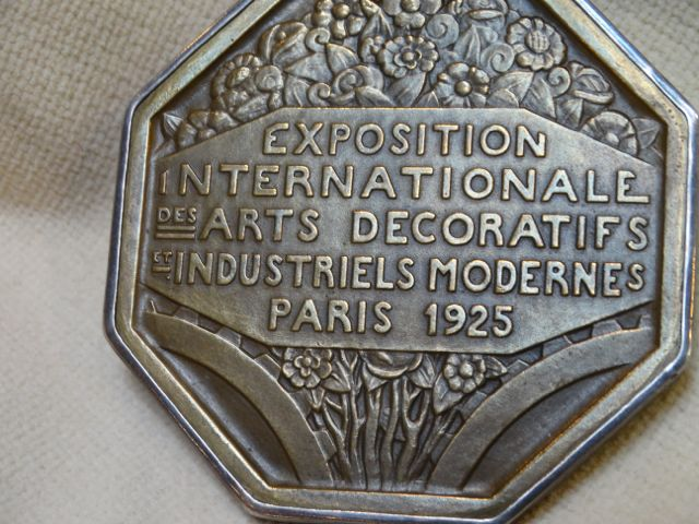 1925 Pierre Turin Bronze Art Deco Exhibition Medal (Pendant) 1925