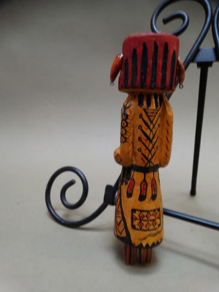Red and Yellow Kachina Doll
