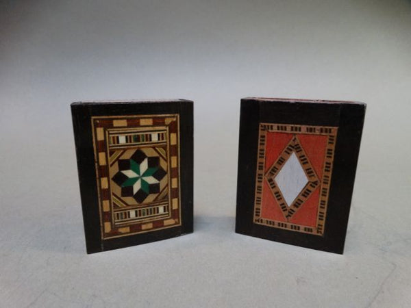 Pair of Inlaid Wood Matchboxes
