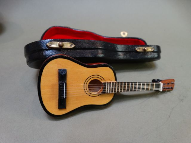 Miniature Spanish Guitar And Case