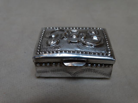 Sterling Silver Repoussé Box
