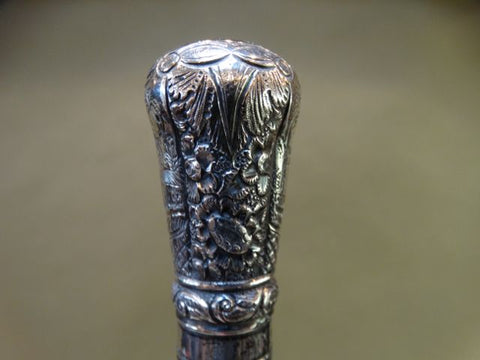 19th Century Silver-handled Cane/Walking Stick