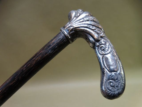 19th Century Silver-handled Cane