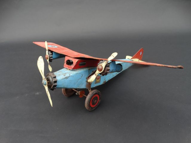 Tin Ford Tri-Motor Toy Airplane