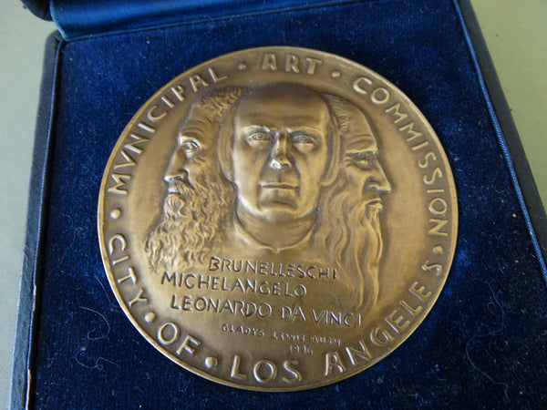 City of LA Municipal Art Commission Medal: Ejnar Hansen