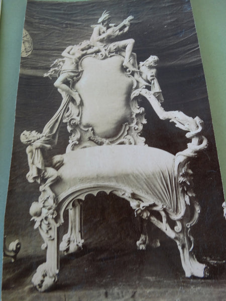 Frederico Giorgi, photo and drawing of chair