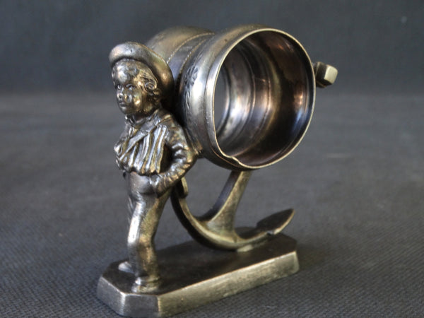 Victorian Sailor Boy Tripleplate Napkin Ring