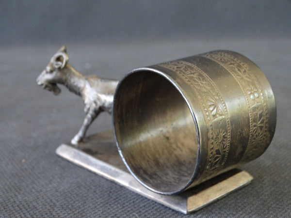 Victorian Goat Silverplate Napkin Ring