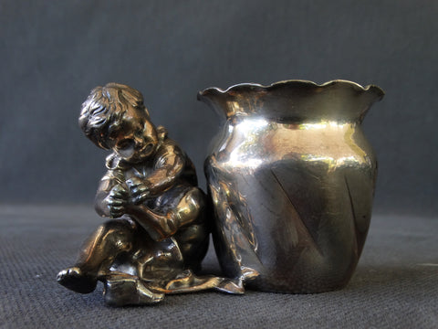 Victorian Silverplate Young Boy Napkin Tub