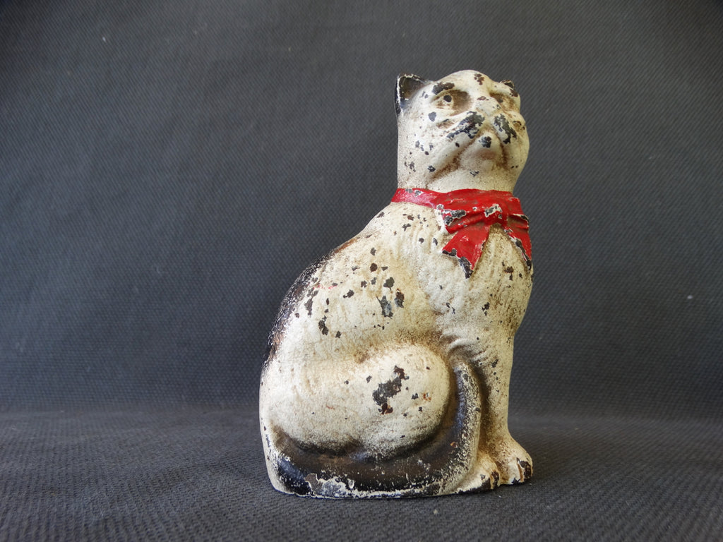 Vintage Cast Iron Cat Bank