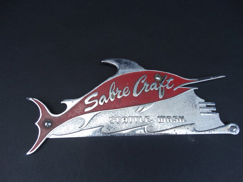 Sabrecraft Swordfish Chrome Emblem