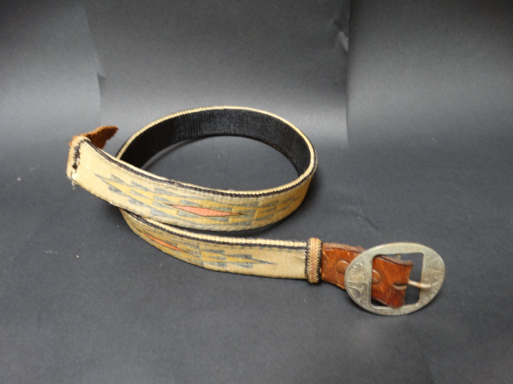 Western Hitched Horsehair Belt circa 1940