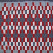 Navajo Rug: Red, Gray, and White