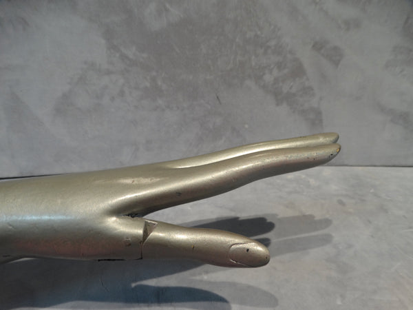 Wooden Display Hand - Silver