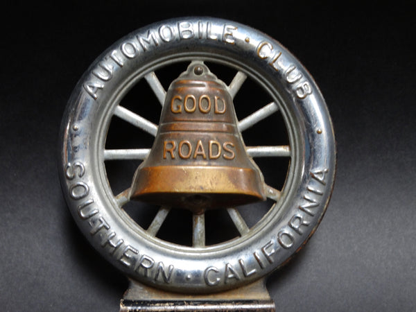 Good Roads - Auto Club License Plate Badge