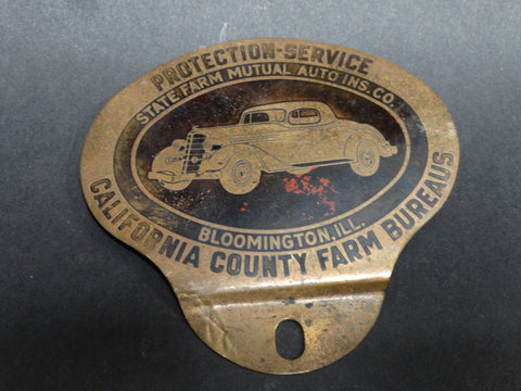 State Farm Mutual Auto Insurance Badge, 1934 Buick