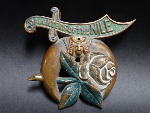 Daughters of the Nile Bronze Radiator Emblem