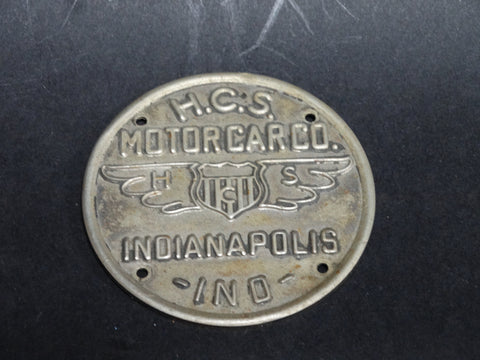 H.C.S. Motorcar Co. Hubcap Badge RARE