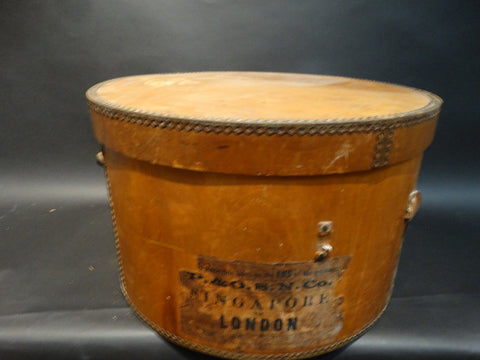 Wooden Hat Box