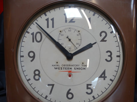 Western Union Electric Clock