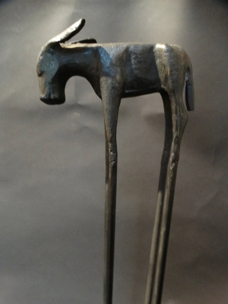 Authentic Thomas Molesworth Cast and Wrought Iron Donkey Ashtray