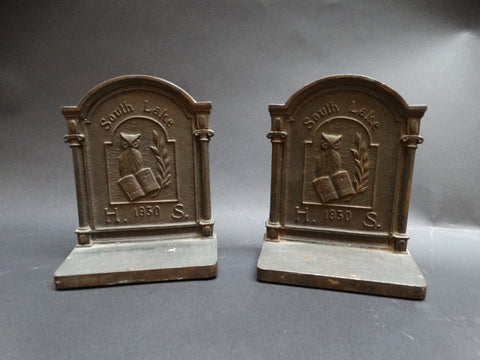 Southlake High School 1930 Cast Iron Bookends