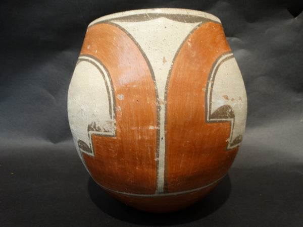 Burnished Zia Pot Roadrunner Motif circa 1910
