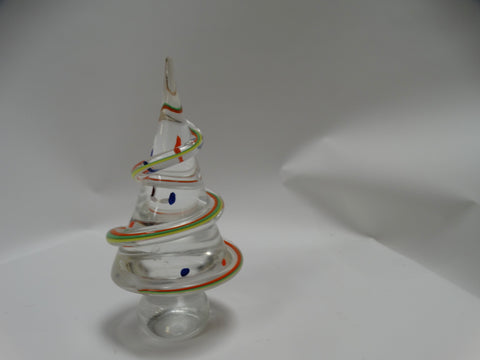 Vintage Murano Millefiori Glass Christmas Tree Paperweight c 1940