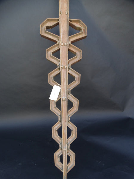 Wooden Sand Cast Mold in the form of a Caduceus