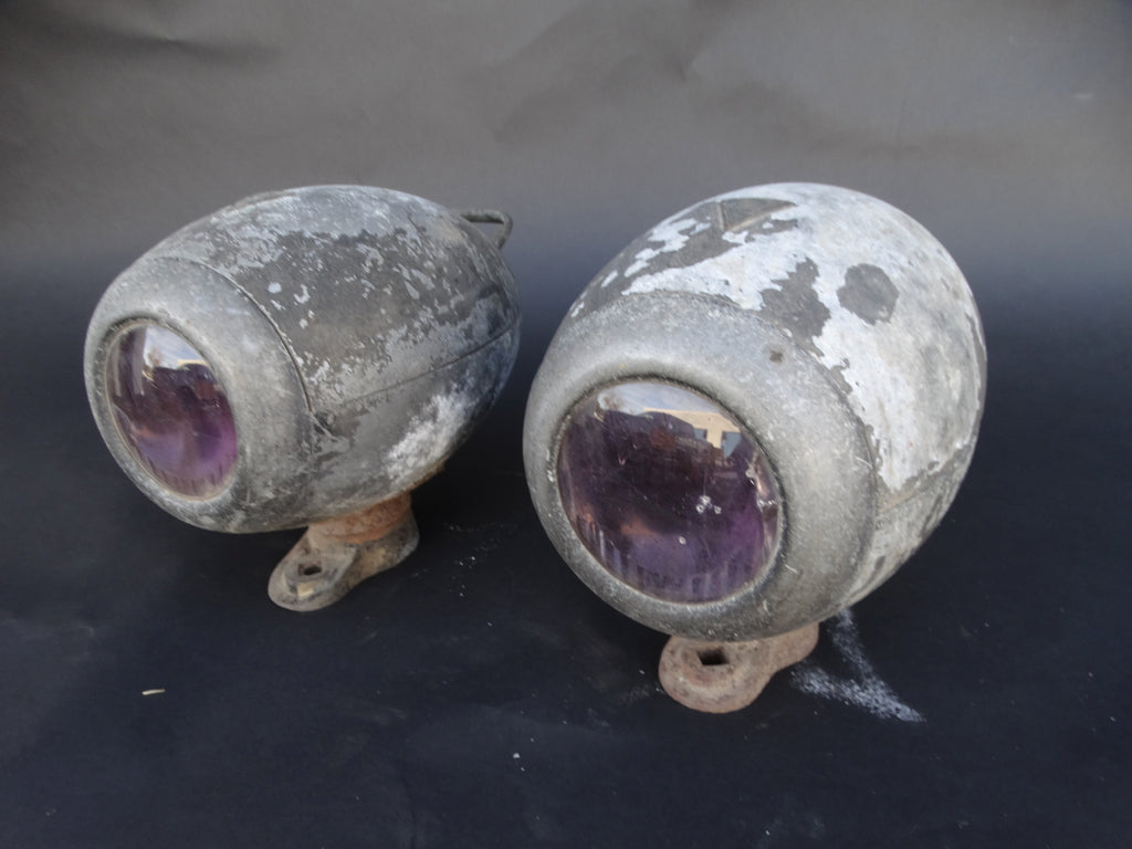 Pair of E & J Torpedo Headlamps c 1925