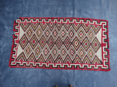 Navajo Dazzler Transitional Rug in the Germantown Style c 1900
