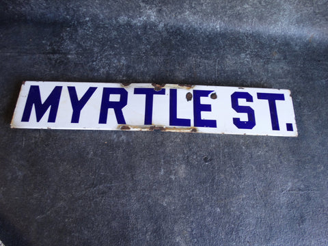 Bakersfied Street Sign Myrtle St A2315