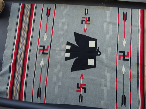 Thunderbird Arrow and Tumbling Log Chimayo Rug A2320
