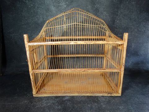 Folk Art Bird Cage c 1920s A2328