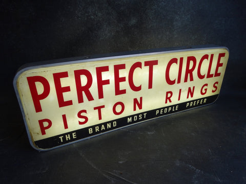 Perfect Circle Piston Rings Illuminated Dealer Sign A2343