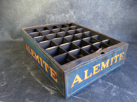 Antique Alemite Gas Station Display Crate c 1920s A2344