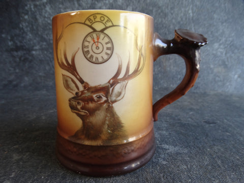 Fraternal Order of Elks Beer Stein Horn-shaped Handle A2361