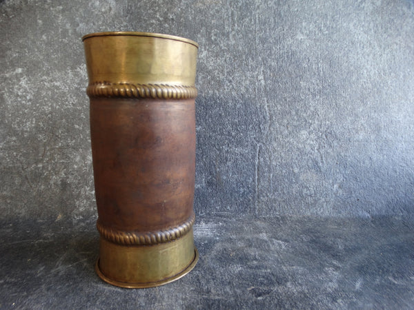 Stickley Model No.62 Vase Arts & Crafts Copper and Brass circa 1910 A2376