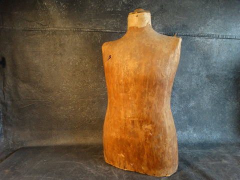19th Century French Male Mannequin Torso A2404