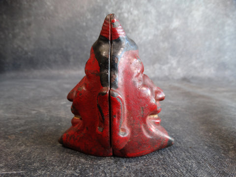 Two-Faced Devil Cast Iron Bank Original Red Paint RARE circa 1900 A2423