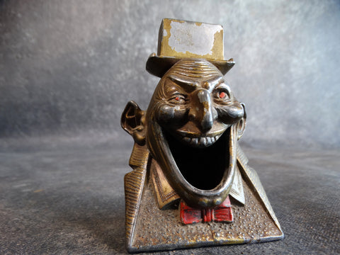 White Metal Carnival Head Novelty 1930s A2424