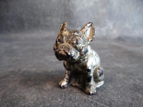White Metal French Bulldog Figurine 1920s A2425